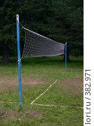Купить «Волейбольная сетка на опушке леса», фото № 382971, снято 16 июля 2008 г. (c) Сергей Костюров / Фотобанк Лори