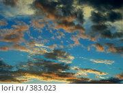 Купить «Облака на закате после дождя», фото № 383023, снято 21 мая 2018 г. (c) Михаил Ковалев / Фотобанк Лори