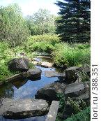 Купить «Водопад в японском саду», фото № 388351, снято 26 июля 2008 г. (c) Евгения Лаврова / Фотобанк Лори