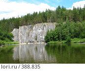 Купить «Скалистый берег реки Чусовая», фото № 388835, снято 26 июля 2008 г. (c) Александр Яшин / Фотобанк Лори