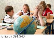 Купить «Ученики на уроке в школе», фото № 391543, снято 19 августа 2007 г. (c) Татьяна Белова / Фотобанк Лори