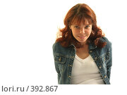 Купить «Кокетливая девушка», фото № 392867, снято 21 октября 2005 г. (c) Андрей Армягов / Фотобанк Лори
