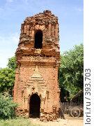 Купить «Руины кирпичной пагоды, Старый Баган, Мьянма», фото № 393703, снято 26 июня 2008 г. (c) Валерий Шанин / Фотобанк Лори