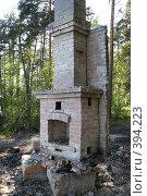 Купить «Одинокая печка в лесу», фото № 394223, снято 24 мая 2008 г. (c) Nelli / Фотобанк Лори