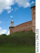 Купить «Спасская башня кремля Великого Новгорода», фото № 396535, снято 6 августа 2008 г. (c) Андрей Некрасов / Фотобанк Лори