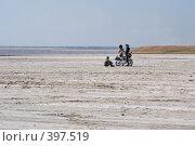 """Купить «""""Солёное озеро"""". Вода высохла, осталась только соль. Таманский полуостров», фото № 397519, снято 9 августа 2008 г. (c) Федор Королевский / Фотобанк Лори"""