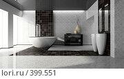 Купить «Современный интерьер ванной комнаты», иллюстрация № 399551 (c) Hemul / Фотобанк Лори