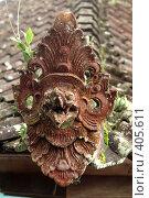 Купить «Демон на крыше балийского храма, остров Бали, Индонезия», фото № 405611, снято 31 мая 2008 г. (c) Валерий Шанин / Фотобанк Лори