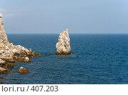 Купить «Скала Парус. Крым.», фото № 407203, снято 12 августа 2007 г. (c) Denis Kh. / Фотобанк Лори