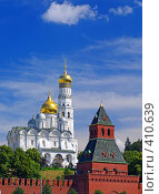 Купить «Московский Кремль. Колокольня Ивана Великого», фото № 410639, снято 1 июля 2008 г. (c) Кирпинев Валерий / Фотобанк Лори