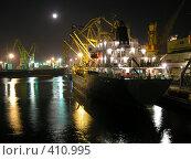 Ночной порт. Стоковое фото, фотограф Дмитрий Рукша / Фотобанк Лори