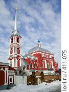 Купить «Мичуринск. Ильинская церковь 1781г.», фото № 411075, снято 13 февраля 2008 г. (c) Михаил Ворожцов / Фотобанк Лори