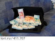 Купить «Деньги в дипломате», фото № 411707, снято 8 августа 2008 г. (c) Артём Анисимов / Фотобанк Лори