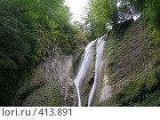 Купить «Ореховский водопад верхняя часть», фото № 413891, снято 13 августа 2008 г. (c) Мажугин Алексей / Фотобанк Лори