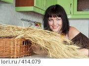 Купить «Девушка на кухне», фото № 414079, снято 18 августа 2008 г. (c) Goruppa / Фотобанк Лори