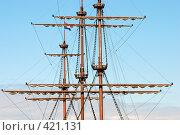 Купить «Мачты парусного судна», фото № 421131, снято 13 июня 2008 г. (c) Дмитрий Яковлев / Фотобанк Лори