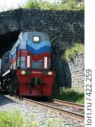 Купить «Тепловоз ТЭМ2-6550 на Кругобайкальской железной дороге (КБЖД)», эксклюзивное фото № 422259, снято 11 августа 2008 г. (c) Оксана Гильман / Фотобанк Лори