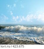 Купить «Морские волны», фото № 423675, снято 7 августа 2008 г. (c) Андрей Бурдюков / Фотобанк Лори