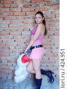 Купить «Девушка с плюшевым медведем», фото № 424951, снято 24 августа 2008 г. (c) Мария Виноградова / Фотобанк Лори