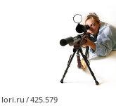 Купить «Женщина с ружьем», фото № 425579, снято 25 августа 2008 г. (c) Морозова Татьяна / Фотобанк Лори