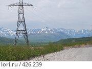 Купить «Электроснабжение на Камчатке», фото № 426239, снято 15 июня 2008 г. (c) Евгений Слобоженюк / Фотобанк Лори