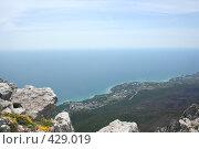 Купить «Вид на Черное море с  Айпетри», фото № 429019, снято 5 июня 2008 г. (c) Сергей Авдеев / Фотобанк Лори
