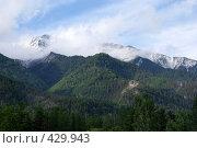 Купить «Горный пейзаж, Саяны», фото № 429943, снято 12 июня 2008 г. (c) Виталий Попов / Фотобанк Лори