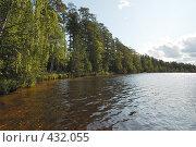 Купить «Пейзаж с озером», фото № 432055, снято 23 августа 2008 г. (c) Катыкин Сергей / Фотобанк Лори