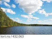 Купить «Озеро и лес», фото № 432063, снято 23 августа 2008 г. (c) Катыкин Сергей / Фотобанк Лори