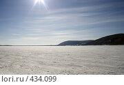 Купить «Зимний пейзаж. Река Волга», фото № 434099, снято 14 ноября 2018 г. (c) Сергей Лысенков / Фотобанк Лори