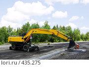 Купить «Рабочий прицепляет груз», фото № 435275, снято 15 июля 2008 г. (c) Дмитрий Лемешко / Фотобанк Лори