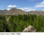Купить «Дорога в Западных Саянах», фото № 441995, снято 3 августа 2008 г. (c) Виталий Матонин / Фотобанк Лори