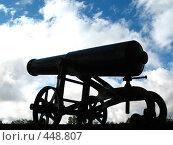 Купить «Петрозаводск. Пушка-памятник на фоне неба», фото № 448807, снято 4 августа 2008 г. (c) Морковкин Терентий / Фотобанк Лори