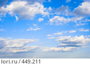Купить «Облака на синем небе», фото № 449211, снято 2 августа 2006 г. (c) Михаил Котов / Фотобанк Лори
