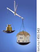 """Купить «Концептуальный коллаж """"оценка недвижимости""""», фото № 450543, снято 20 марта 2008 г. (c) Чепко Данил / Фотобанк Лори"""