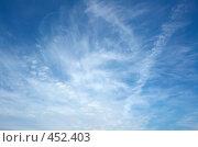 Купить «Небо, лето, облака», фото № 452403, снято 24 августа 2019 г. (c) Сергей Усс / Фотобанк Лори
