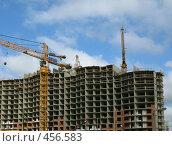 Купить «Строительство жилого дома», фото № 456583, снято 13 сентября 2008 г. (c) Юлия Подгорная / Фотобанк Лори