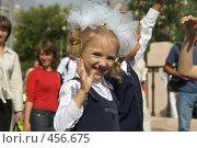 Купить «Первоклассница», фото № 456675, снято 31 августа 2008 г. (c) Талдыкин Юрий / Фотобанк Лори