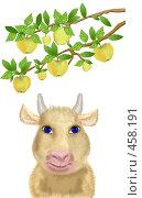 Купить «Летняя корова (Август)», иллюстрация № 458191 (c) Олеся Сарычева / Фотобанк Лори