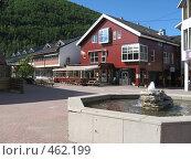 Площадь в норвежском городке (2008 год). Стоковое фото, фотограф Anna Marklund / Фотобанк Лори