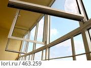 Купить «Интерьер лоджии с пластиковыми окнами в современной квартире», фото № 463259, снято 13 июля 2008 г. (c) Дмитрий Яковлев / Фотобанк Лори