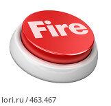 Кнопка - огонь. Стоковая иллюстрация, иллюстратор Панюков Юрий / Фотобанк Лори