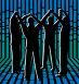 Группа людей с поднятыми руками. Вектор., иллюстрация № 466895 (c) Losevsky Pavel / Фотобанк Лори