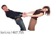 Молодые мужчина и женщина держатся за руки. Стоковое фото, фотограф Losevsky Pavel / Фотобанк Лори