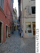 Купить «Торговая улица города Ровень, Хорватия», фото № 472723, снято 19 августа 2008 г. (c) Pukhov K / Фотобанк Лори