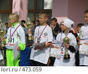 Купить «Победители кросса наций в городе Краснокаменске», фото № 473059, снято 21 сентября 2008 г. (c) Геннадий Соловьев / Фотобанк Лори