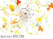 Осенние листья вокруг трещины. Стоковая иллюстрация, иллюстратор Бурнос Андрей / Фотобанк Лори