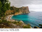 Купить «Красивый дикий пляж в горах», фото № 476035, снято 13 августа 2008 г. (c) Виталий Романович / Фотобанк Лори