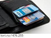 Купить «Кошелек и банковские карты», фото № 476255, снято 24 сентября 2008 г. (c) Ксения Крылова / Фотобанк Лори