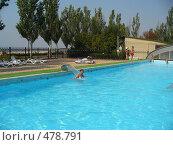 Купить «Отдых в бассейне», фото № 478791, снято 23 августа 2008 г. (c) Нетичук Александр / Фотобанк Лори